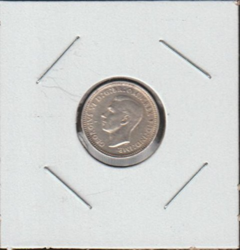 1943 AU Classic Head Left Threepence Choice Uncirculated