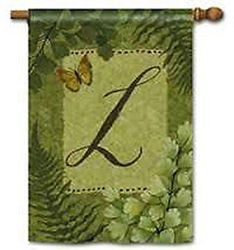 Natures Monogram - Nature's Script Monogram L House Flag by BreezeArt