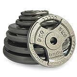 Body Revolution Cast Iron Weight Set Tri Grip Weight Plates - 1 Inch Standard – 1.25kg 2.5kg 5kg 10kg 15kg 20kg 25kg