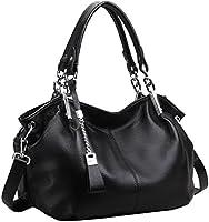Heshe Womens Leather Handbags Ladies Designer Purse Tote Bag Top Handle Bag Hobo Bag Shoulder Bag Cross Body Bag