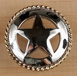 Set of 6 rustic rope lone star drawer pulls cabinet knobs for Star cabinet pulls