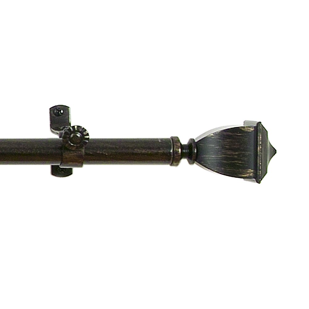 Achim Home Furnishings Buono II Maestro Curtain Rod with Finials, 28-Inch Extends to 48-Inch Achim Imports RDMSTR2848