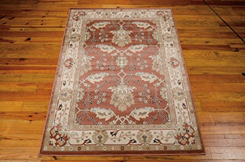 (Nourison Walden (WAL04) Brick Rectangle Area Rug, 3-Feet 9-Inches by 5-Feet 9-Inches (3'9