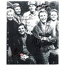 MASH Signed by LORETTA SWIT, GARY BURGHOFF, LARRY LINVILLE, WAYNE ROGERS, and MCLEAN STEVENSON 8x10 B/W Photo