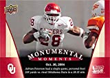 Adrian Peterson football card (Oklahoma Sooners) 2011 Upper Deck #93 Monumental Moments verusus Oklahoma State