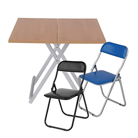 Phenomenal Amazon Com Fityle 1 6 Table Chair Foldable Desk For 12Inch Unemploymentrelief Wooden Chair Designs For Living Room Unemploymentrelieforg