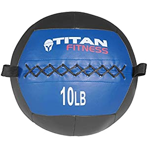Titan 10 lb Wall Medicine Ball Core Workout Cardio Muscle Exercises Strength WOD