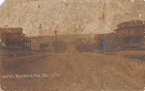 Enola Pennsylvania Wyoming Ave Real Photo Antique Postcard K80737