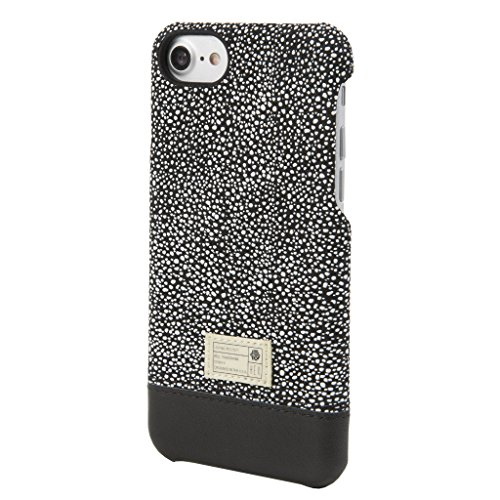 HEX [Focus Case Series] Case Design for Iphone 8 / Iphone 7 - Premium Leather Textile Construction - Custom Molded Polycarbonate - Focus Case / Black/White Stingray