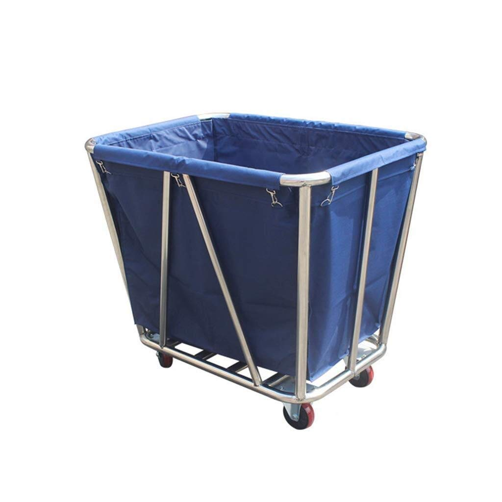 LQQFF Laundry Basket Trolley Heavy-Duty Garden cart Foldable Outdoor Stroller Straw Bag Removable