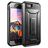 iPhone 8 Case, SUPCASE Full-Body Rugged Holster Case Built-in Screen Protector Apple iPhone 7 2016 / iPhone 8 (2017 Release), Unicorn Beetle PRO Series - Retail Package (Black/Black)