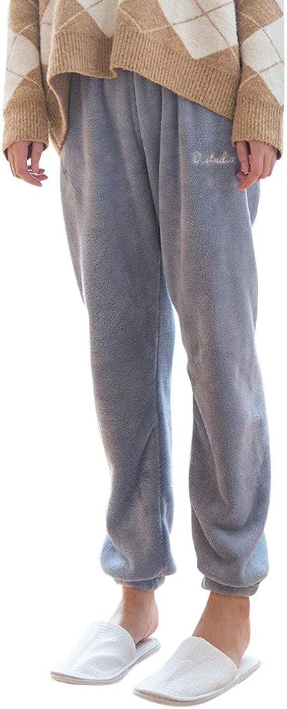 JiaMeng Mujer Pantalones de Estar por Casa con Cordones ...