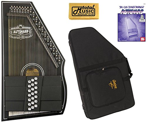 Oscar Schmidt OS73CE 1930's Reissue 21 Chord Autoharp with Pickup - Black W/Soft Case by Oscar Schmidt