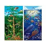 : Melissa & Doug Under the Sea and Rainforest Cardboard Floor Puzzle Set
