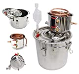 USA Premium Store 5 Gallon/20L Alcohol Moonshine Water Copper Home Stainless Alcohol Distiller