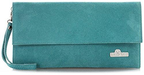 Turquesa Azul De 'cheryl' Noche Pastel Gamuza Bolso clutch Liatalia Suave 8Sg0T