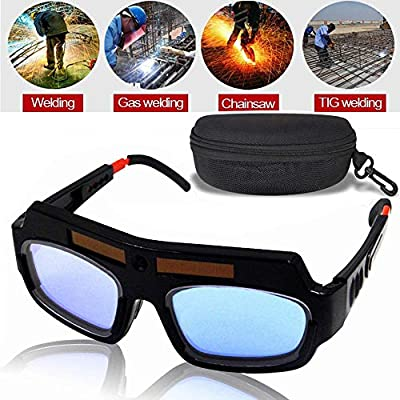 LETBUY Welding Glasses Mask Helmet Eyes Goggles, Solar Auto Darkening Welding Goggle Safety Protective Eyes Goggle, Professional PC Lens Welder ...