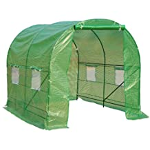 Outsunny 8'x6.6'x6.6' Heavy Duty Walk-in Greenhouse Outdoor Garden Plant Tunnel
