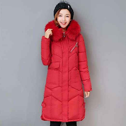 Amazon.com: AOJIAN Women Winter Casual Thicker Slim Down Lammy Jacket Long Coat Overcoat Patchwork Outwear (Red, S): Clothing