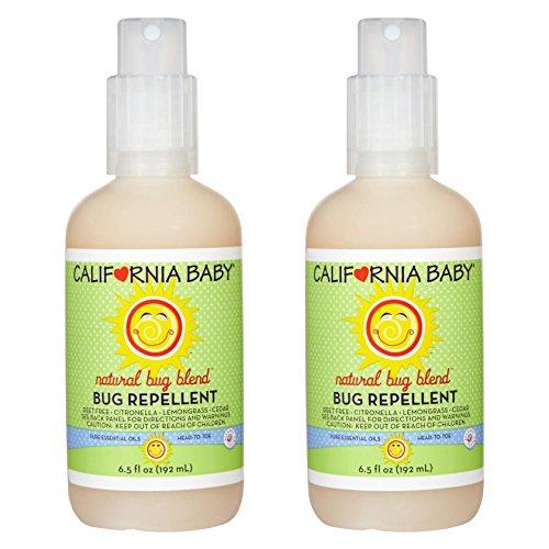 (California Baby Bug Repellant Spray, 6.5 Ounce (2)