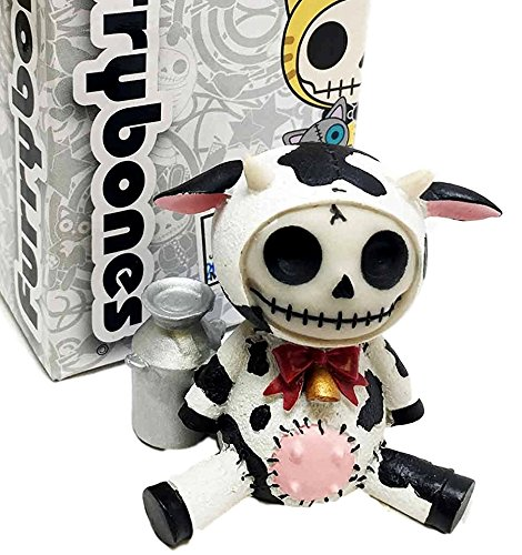 Furrybones MooMoo Bovine Cow Skeleton Monster Ornament Figurine (Cow Skull Halloween Mask)