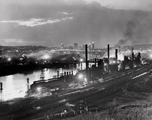 Jones & Laughlin Steel Mill, Pittsburgh, Pennsylvania, USA Poster Print (18 x - Mills Pittsburgh
