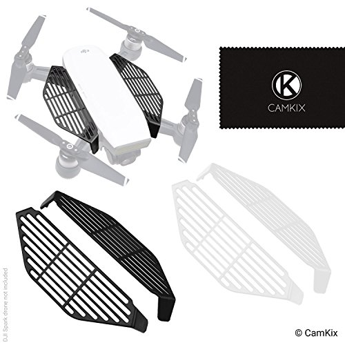 - CamKix Finger Guards Compatible with DJI Spark - 2 Pair Set (2X Black and 2X White) - Hand Catch Safety Shields - Protects Hands/Fingers from Propeller Impacts - Essential DJI Spark Drone Accessory
