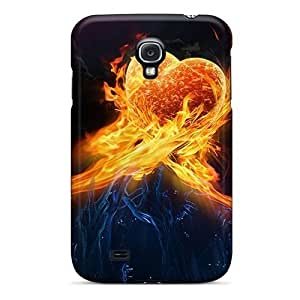 Dana Lindsey Mendez TEFxzke5989FxsUw Case Cover Galaxy S4 Protective Case Heart On Fire by icecream design