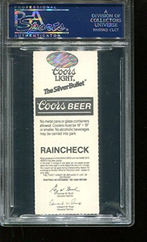 Nolan Ryan Autographed Signed Ticket 309Th Win 10 K's 7/28/91 Autographed Signed PSA/DNA Authentic 83942778
