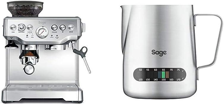 NEW Sage BES003UK the Temp Control Milk Texturing Jug Silver Milk Jug