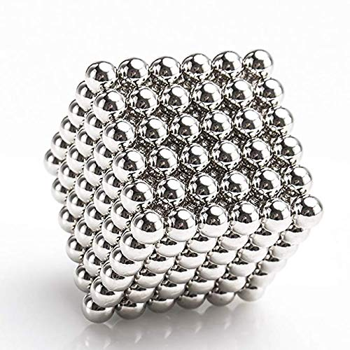 Spheres Neodymium Magnet - Chige Desk Game Magnetic Sculpture Toys for Intelligence Development and Stress Relief (Silver)