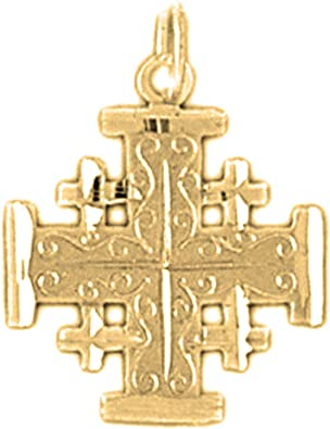 Jewels Obsession Cross Pendant 18 Chain Made in USA Gold Filled Cross Pendant