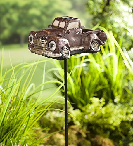 (Wind & Weather Solar Antique Pickup Truck with Stake )