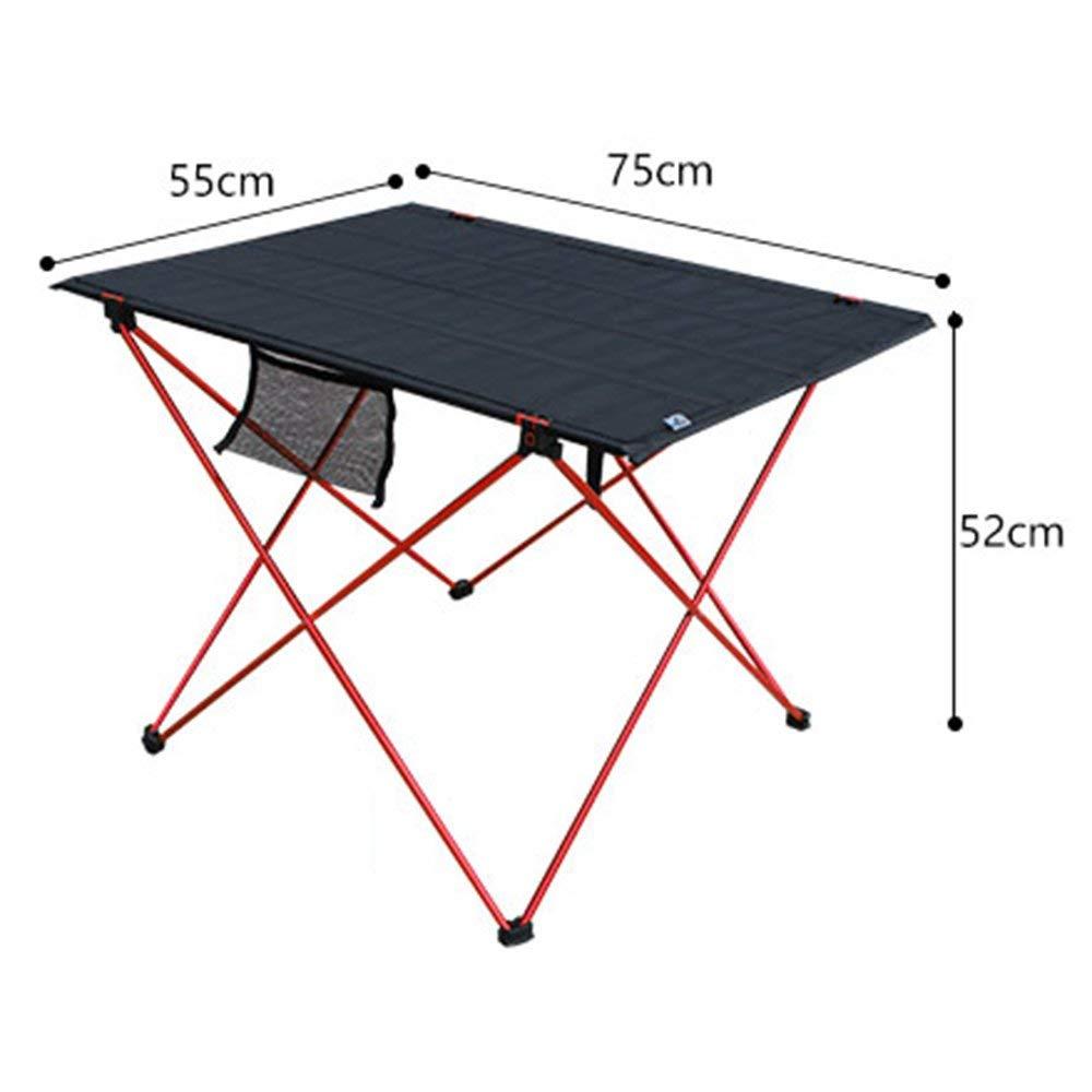 VYN Table de pique-nique compact pliable portable de table de camping portable l/éger pour le m/énage avec sac de transport pour plage en plein air,rouge,