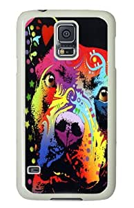 Samsung Galaxy S5 Case,thoughtful pitbull warrior heart PC Hard Plastic Case for Samsung S5/Samsung Galaxy S5 Whtie