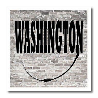 3dRose RinaPiro - US States - Washington. State Capital is Olympia. - 8x8 Iron on Heat Transfer for White Material - State Capital Olympia Washington Of
