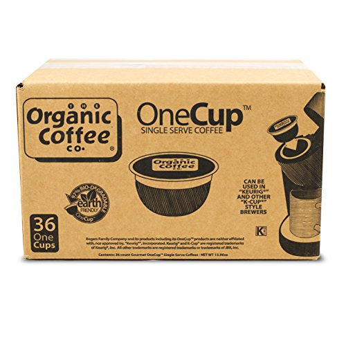 The Organic Coffee Co. OneCup, Gorilla Decaf, 36 Single Serve Coffees (Keurig Organic Coffee K Cups compare prices)