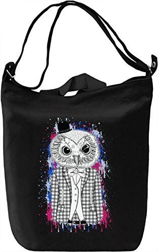 Hipster Owl Borsa Giornaliera Canvas Canvas Day Bag  100% Premium Cotton Canvas  DTG Printing 