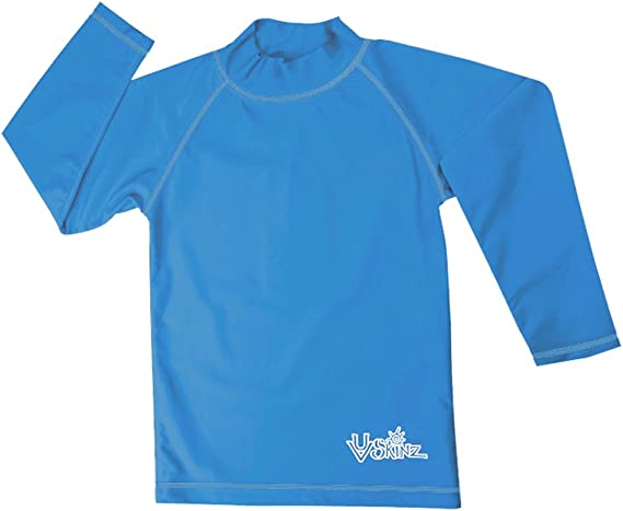 Sun Protection UV Skinz Men/'s V-Neck Short Sleeve Sun /& Swim Shirt with UPF 50