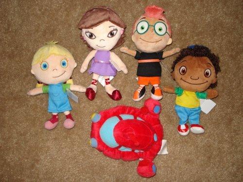 Disney Baby Little Ensteins Plush Set of 5: Rocket Annie Leo June -