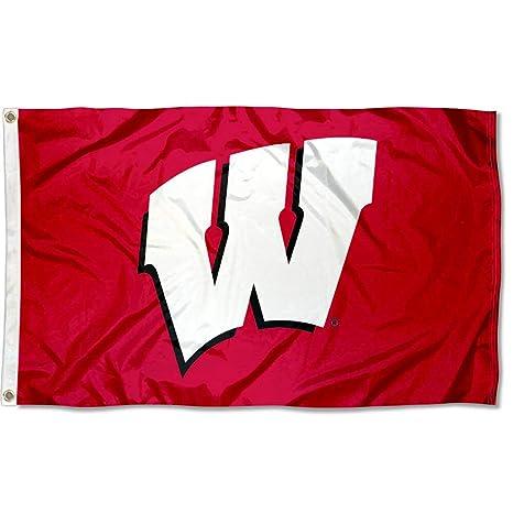 huge discount d31e4 80114 Amazon.com   UW Wisconsin Badgers University Large College Flag   Outdoor  Flags   Sports   Outdoors