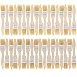 US Art Supply 36 Pack of 1 inch Paint and Chip Paint Brushes for Paint, Stains, Varnishes, Glues, and Gesso