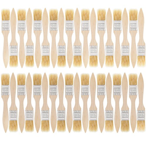 Varnish Paint Brush (US Art Supply 36 Pack of 1 inch Paint and Chip Paint Brushes for Paint, Stains, Varnishes, Glues, and Gesso)