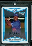 2008 Bowman Chrome Prospects #BP94 Brian Mathews - Los Angeles Dodgers (XRC - Extended Rookie Card) - MLB Baseball Card in Protective Screw Down Display Case!