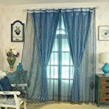 Sheer Curtains,Breathable Curtains,Blackout Curtains,Easy to Wash Prevent Sunlight for Floor to Ceiling Bay Window Bedroom(1 Curtain)-A 350x270cm(138x106inch)
