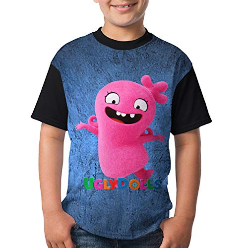 Uglydolls Shirt Youth Shirt Cusual Unisex Short Sleeved T-Shirt Front Print with HD 3D (XS) Black