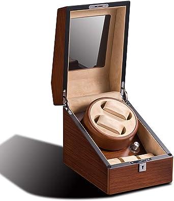 Madera Automático Cajas Giratorias para Relojes con 2 + 3 Cuero Relojes Estuche De Almacenamiento Caja De Presentación con Bloqueo: Amazon.es: Relojes