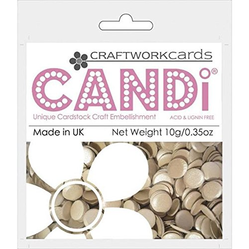 Craftwork Cards - Craftwork Cards Candi Dot Color Pop Embellishments, 0.35-Ounce, Truffle