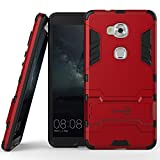 Huawei Honor 5X Case, CoverON® [Shadow Armor Series] Hard Slim Hybrid Kickstand Phone Cover Case for Huawei Honor 5X / Huawei GR5 - Red & Black