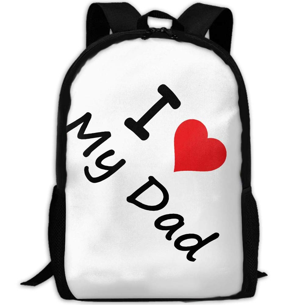 ZQBAAD I Love My Dad Luxury Print Men and Women's Travel Knapsack